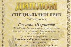 Шарипова Роза спецприз